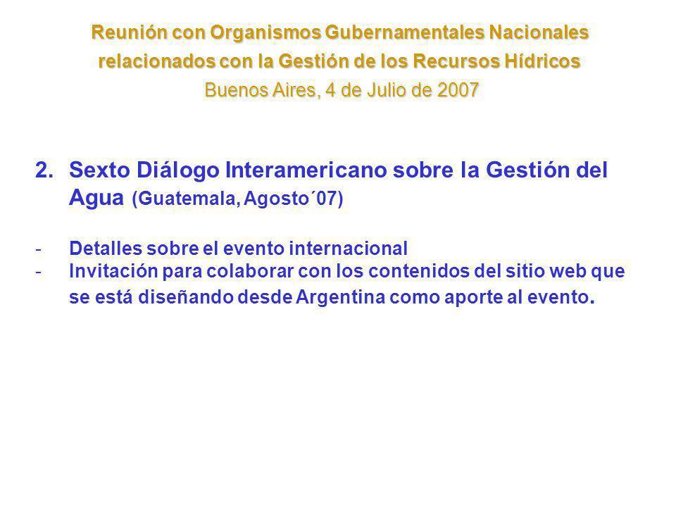 Reunión con Organismos Gubernamentales Nacionales