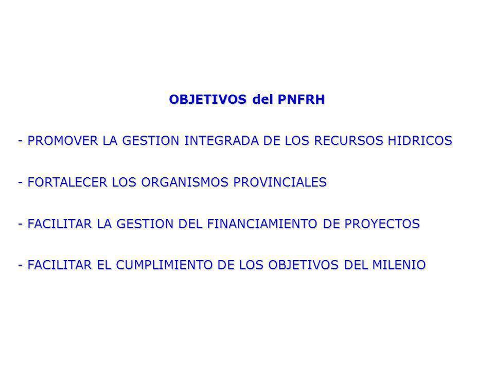 - PROMOVER LA GESTION INTEGRADA DE LOS RECURSOS HIDRICOS