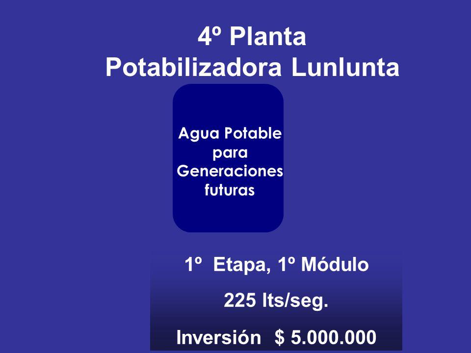 Potabilizadora Lunlunta Agua Potable para Generaciones futuras
