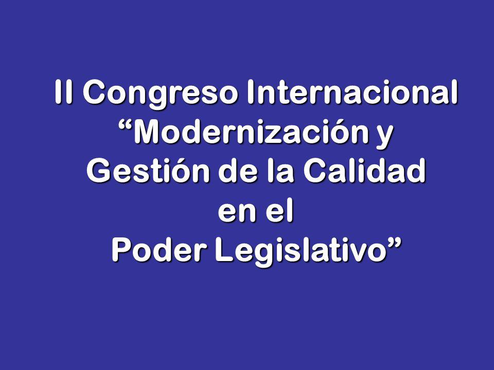 II Congreso Internacional Modernización y Gestión de la Calidad en el Poder Legislativo