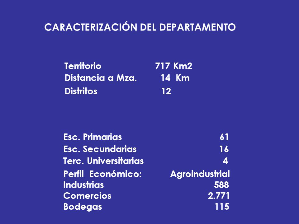 CARACTERIZACIÓN DEL DEPARTAMENTO