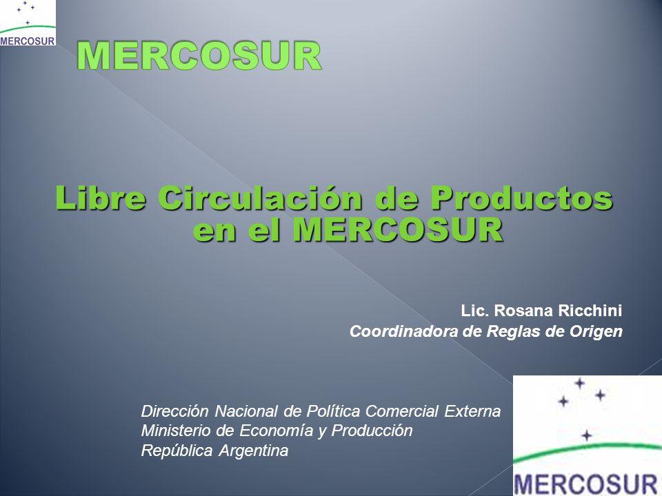 Libre Circulación de Productos en el MERCOSUR