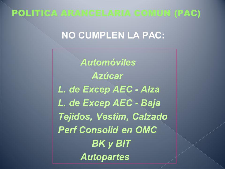 POLITICA ARANCELARIA COMUN (PAC)
