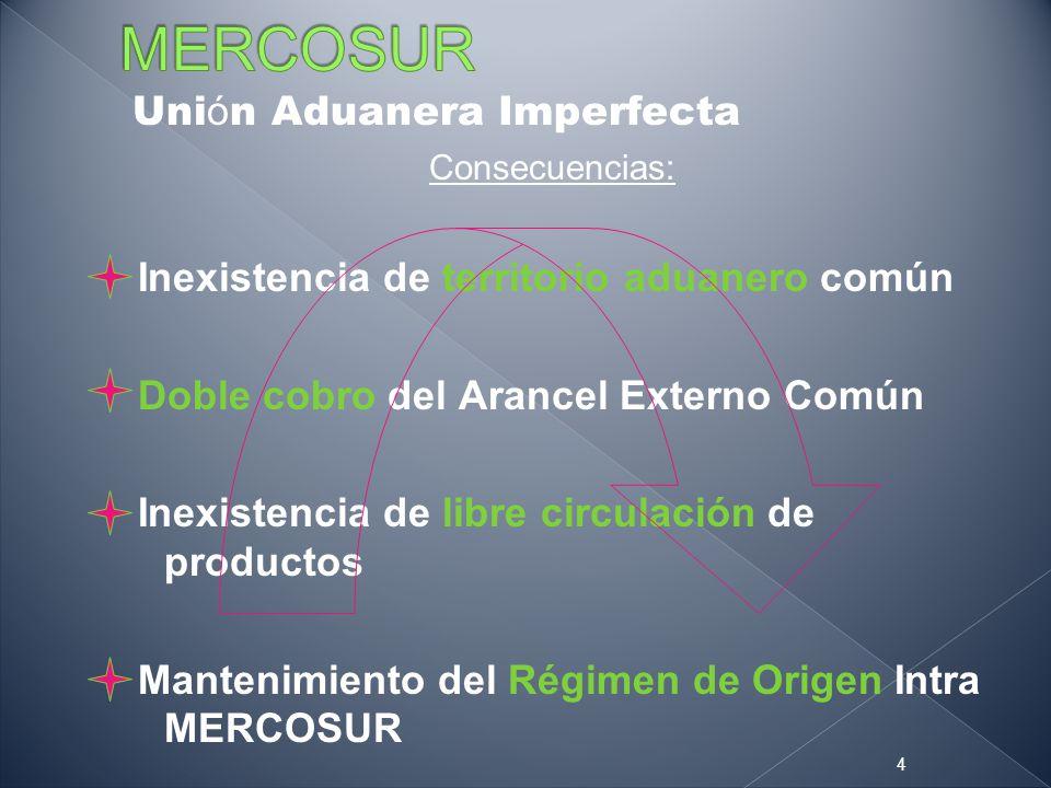 MERCOSUR Unión Aduanera Imperfecta