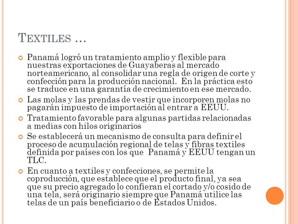 Textiles …