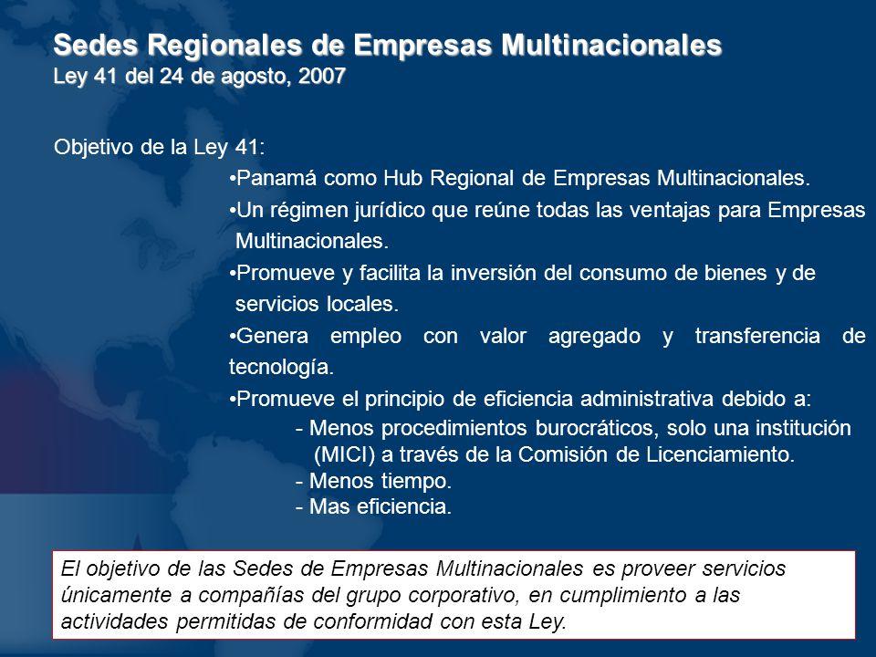 Sedes Regionales de Empresas Multinacionales