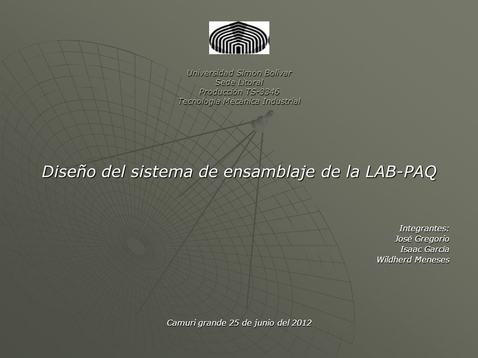 Diseño del sistema de ensamblaje de la LAB-PAQ