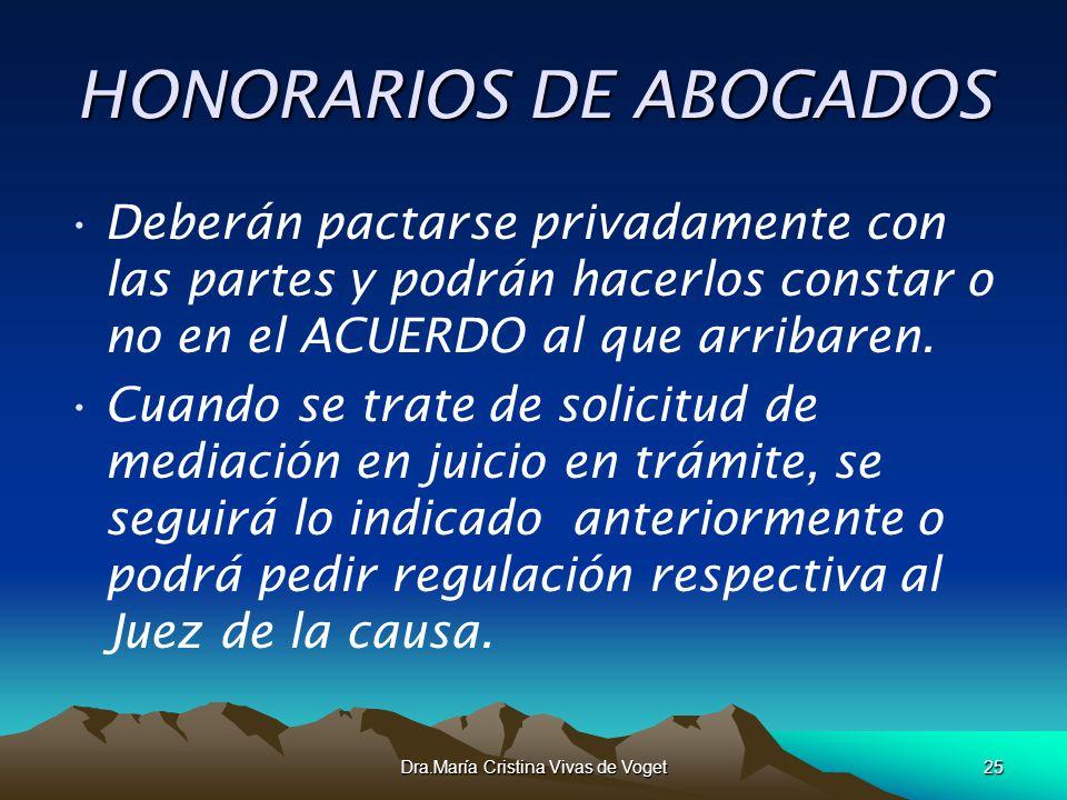 HONORARIOS DE ABOGADOS