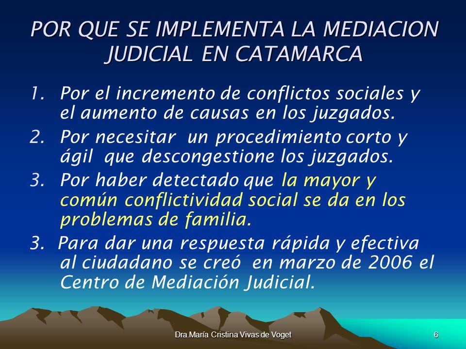 POR QUE SE IMPLEMENTA LA MEDIACION JUDICIAL EN CATAMARCA