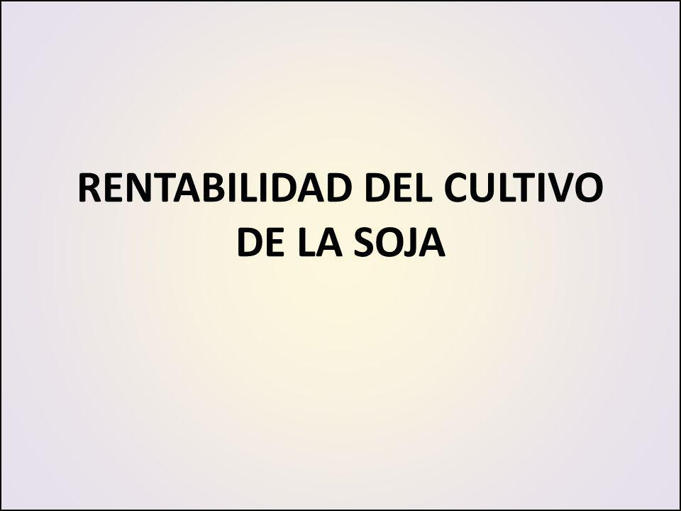 RENTABILIDAD DEL CULTIVO DE LA SOJA