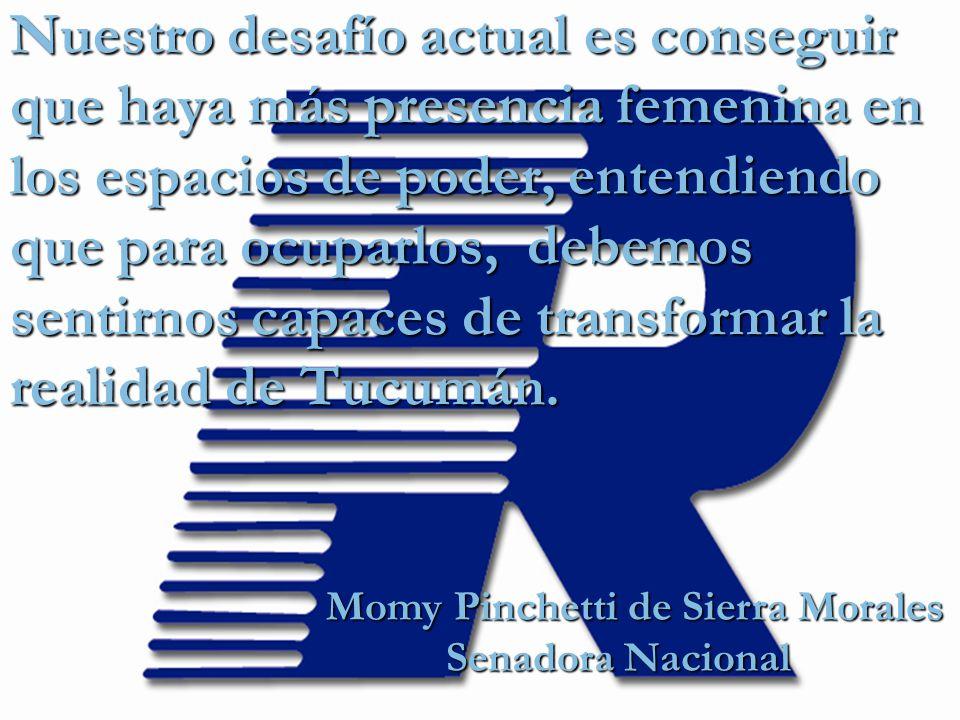 Momy Pinchetti de Sierra Morales Senadora Nacional