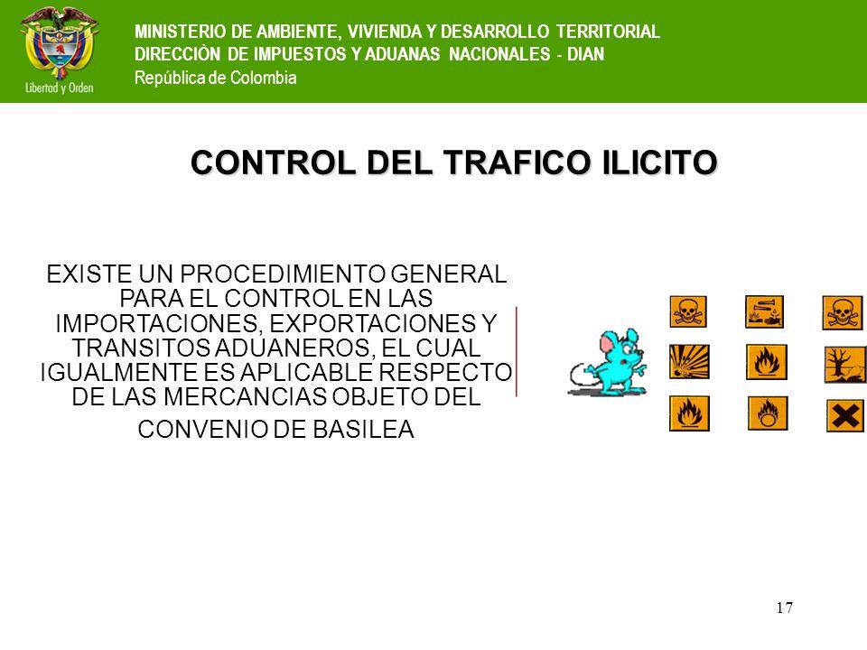CONTROL DEL TRAFICO ILICITO
