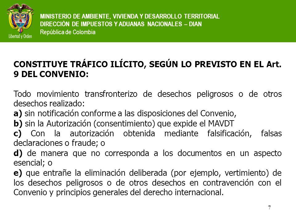 a) sin notificación conforme a las disposiciones del Convenio,