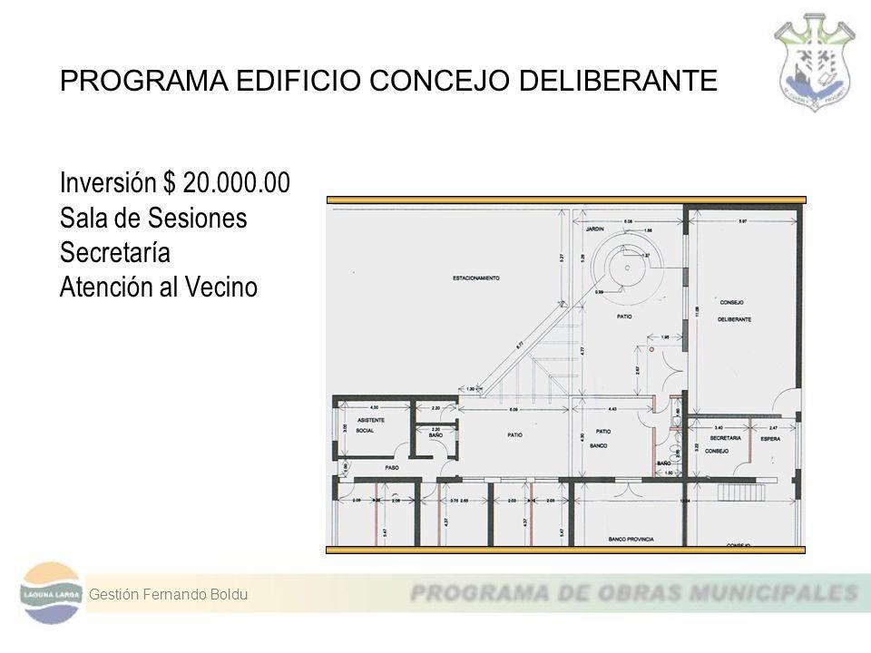 PROGRAMA EDIFICIO CONCEJO DELIBERANTE