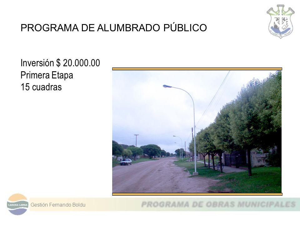 PROGRAMA DE ALUMBRADO PÚBLICO