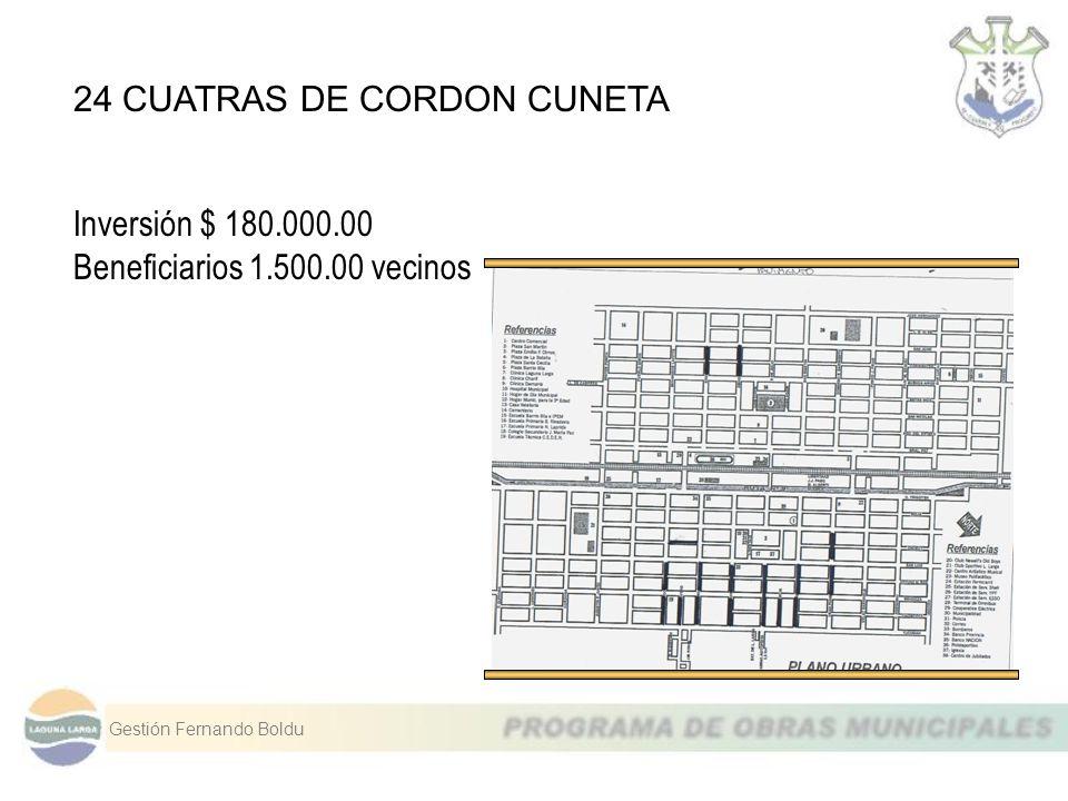 24 CUATRAS DE CORDON CUNETA