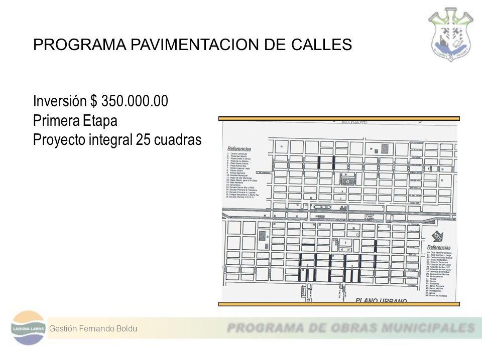 PROGRAMA PAVIMENTACION DE CALLES