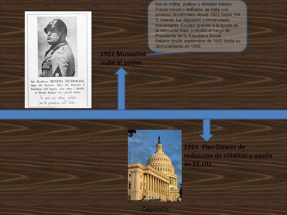 1922 Mussolini sube al poder.
