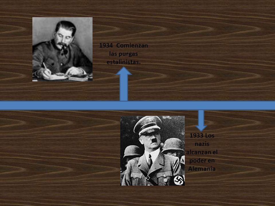 1934 Comienzan las purgas estalinistas.