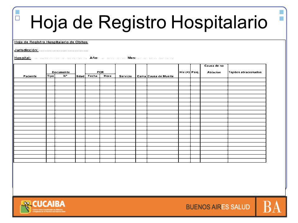 Hoja de Registro Hospitalario