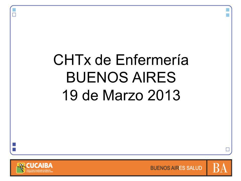 CHTx de Enfermería BUENOS AIRES 19 de Marzo 2013