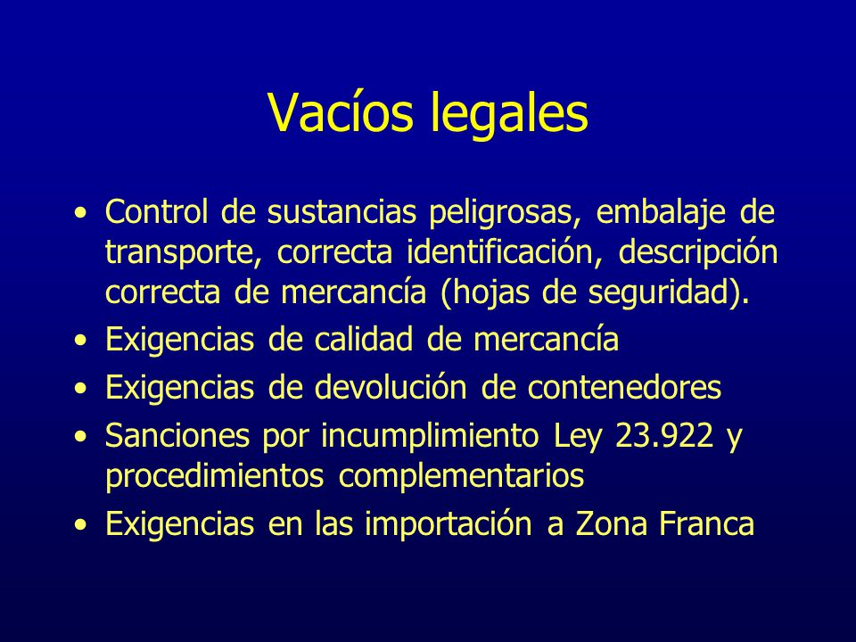 Vacíos legales