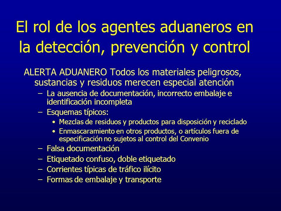 El rol de los agentes aduaneros en la detección, prevención y control