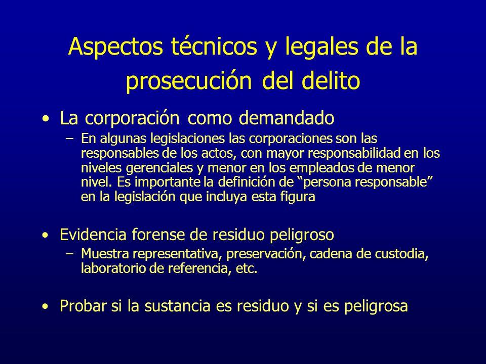 Aspectos técnicos y legales de la prosecución del delito