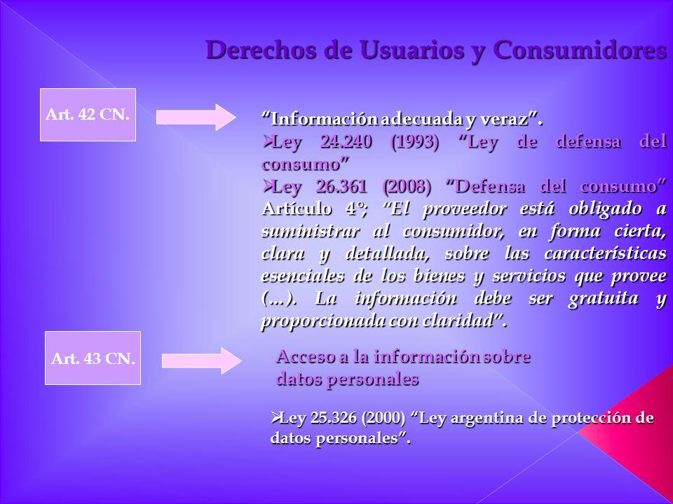 Derechos de Usuarios y Consumidores