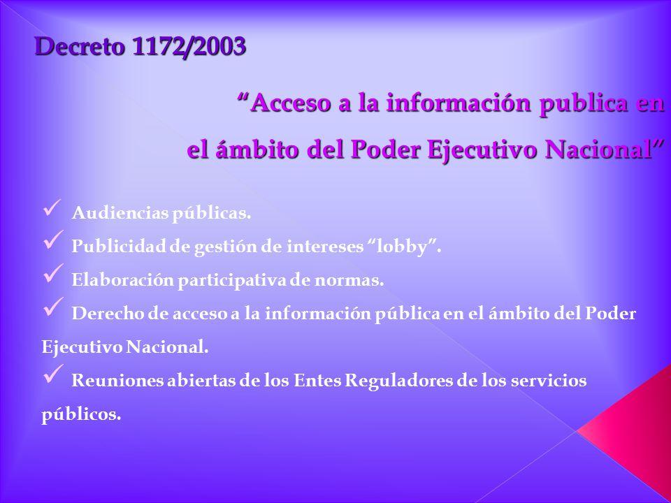 Acceso a la información publica en