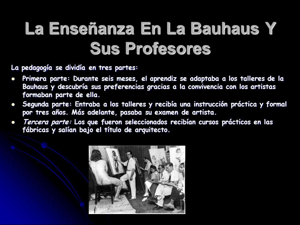 La Enseñanza En La Bauhaus Y Sus Profesores