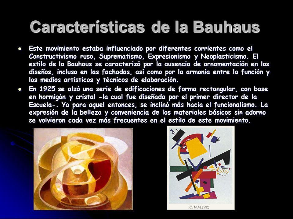 Características de la Bauhaus