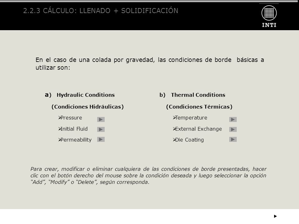 2.2.3 CÁLCULO: LLENADO + SOLIDIFICACIÓN