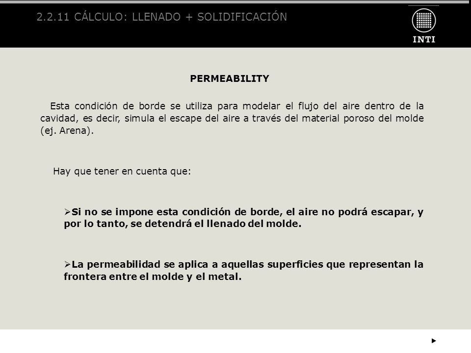 2.2.11 CÁLCULO: LLENADO + SOLIDIFICACIÓN