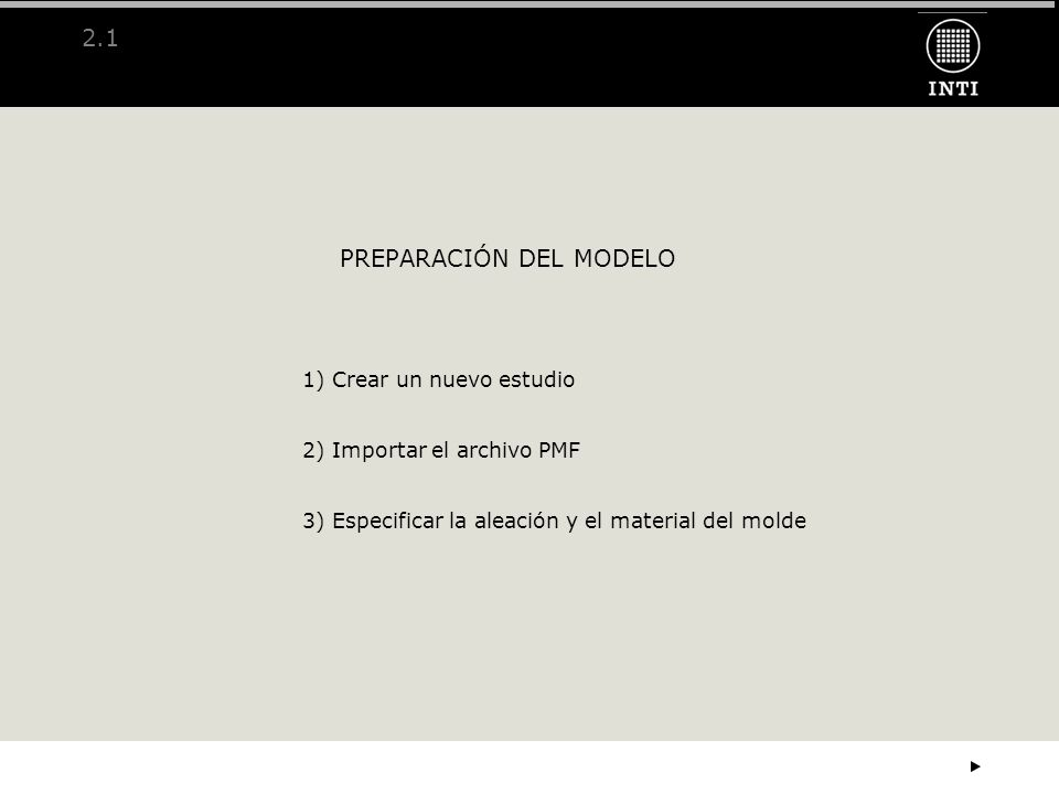 PREPARACIÓN DEL MODELO