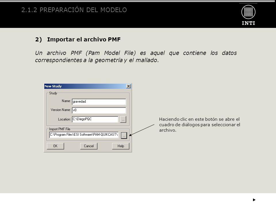 2.1.2 PREPARACIÓN DEL MODELO