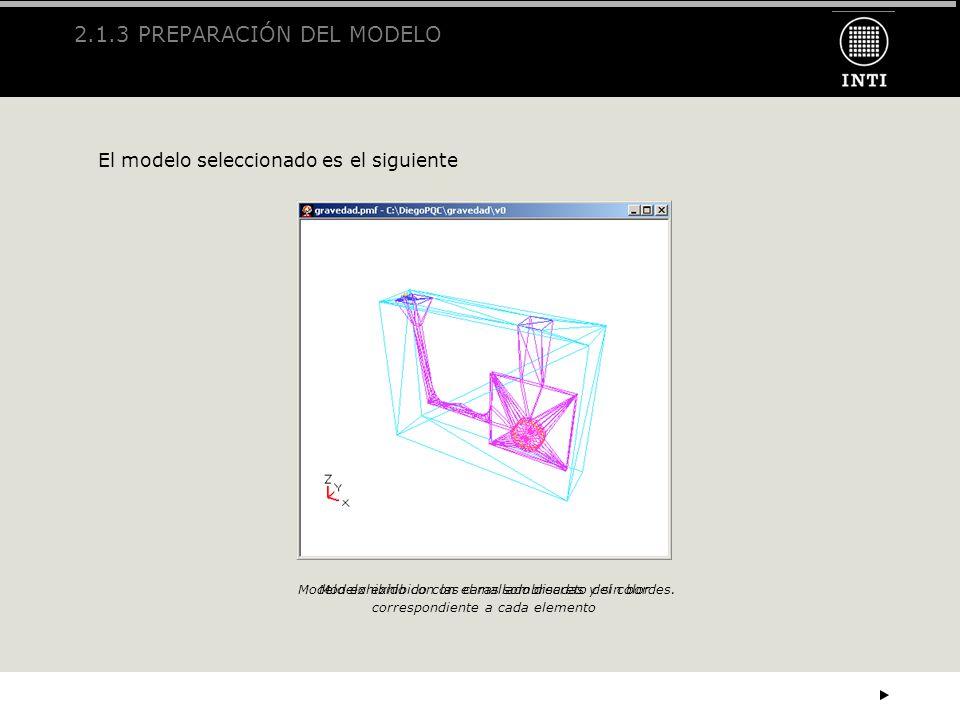 2.1.3 PREPARACIÓN DEL MODELO