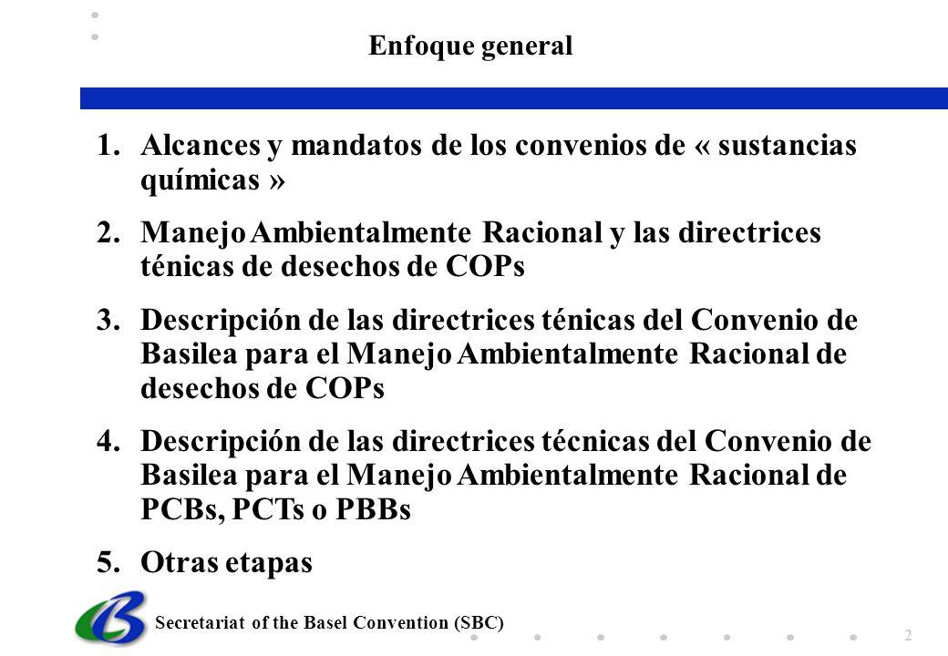 Alcances y mandatos de los convenios de « sustancias químicas »