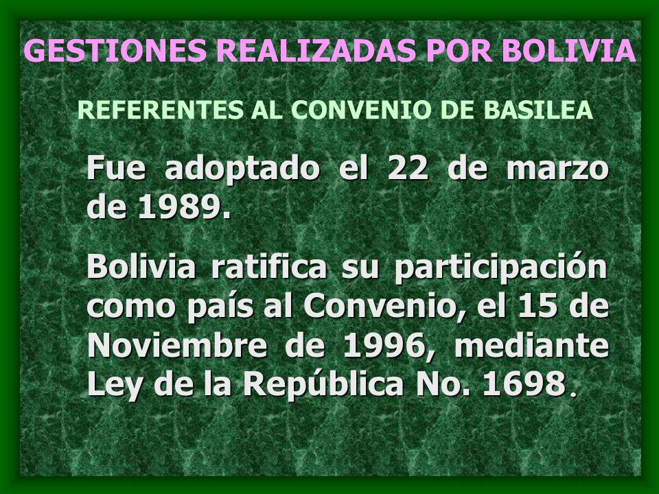 REFERENTES AL CONVENIO DE BASILEA
