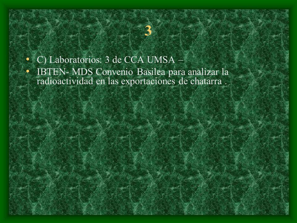 3 C) Laboratorios: 3 de CCA UMSA –