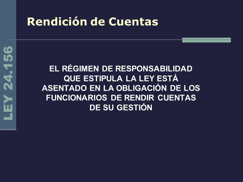 LEY 24.156 Rendición de Cuentas