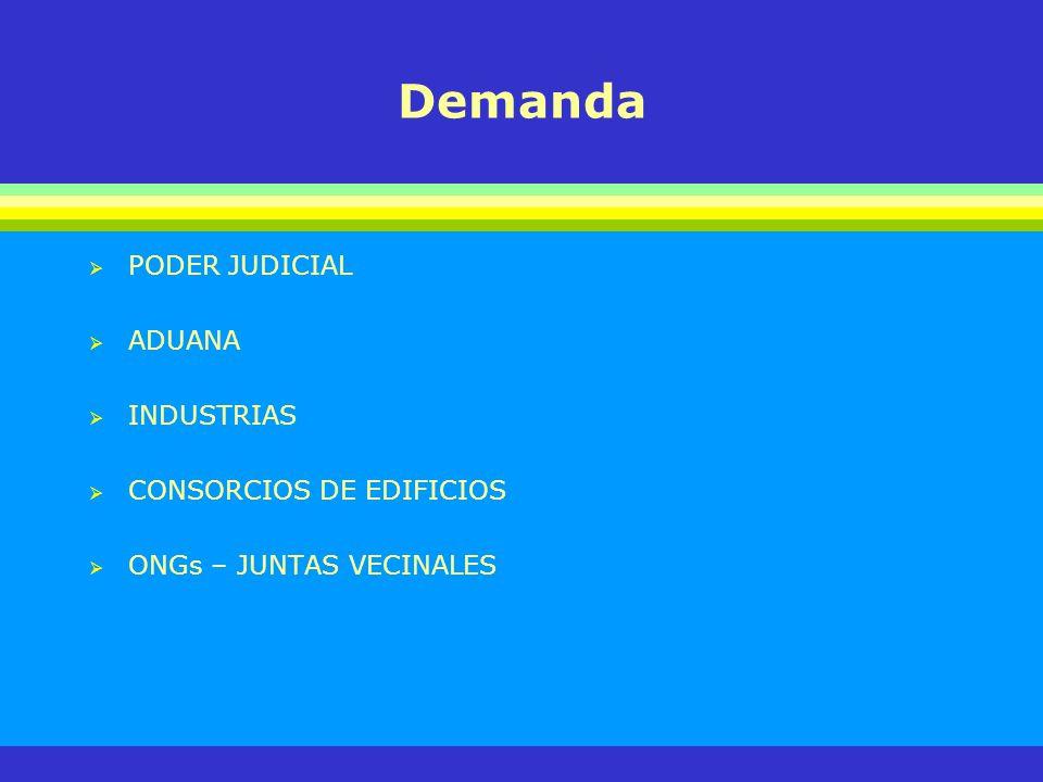 Demanda PODER JUDICIAL ADUANA INDUSTRIAS CONSORCIOS DE EDIFICIOS
