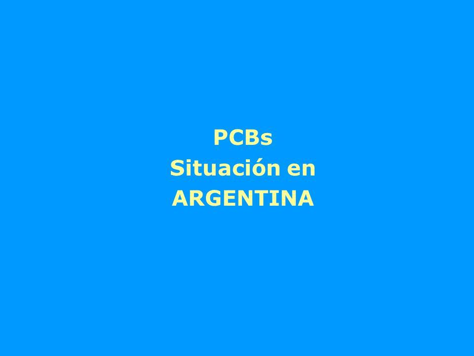 PCBs Situación en ARGENTINA