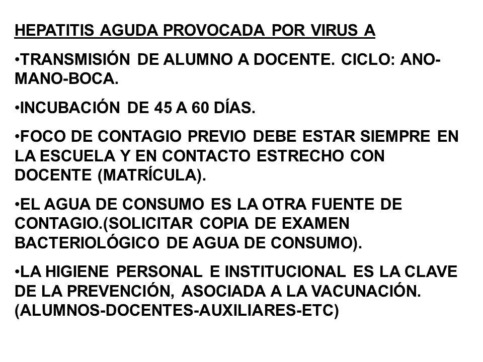 HEPATITIS AGUDA PROVOCADA POR VIRUS A