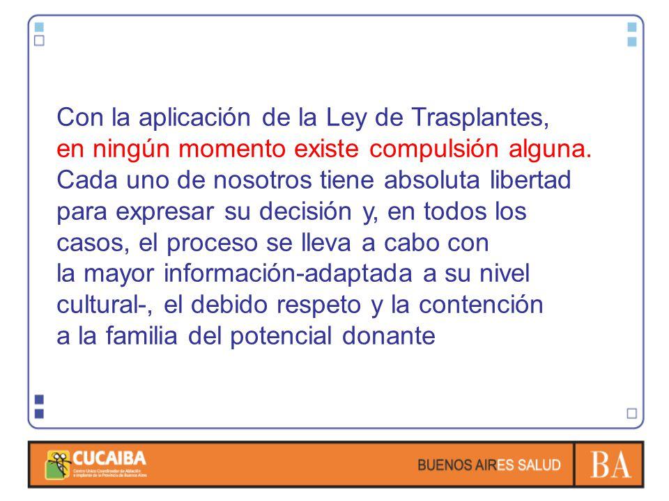 Con la aplicación de la Ley de Trasplantes,