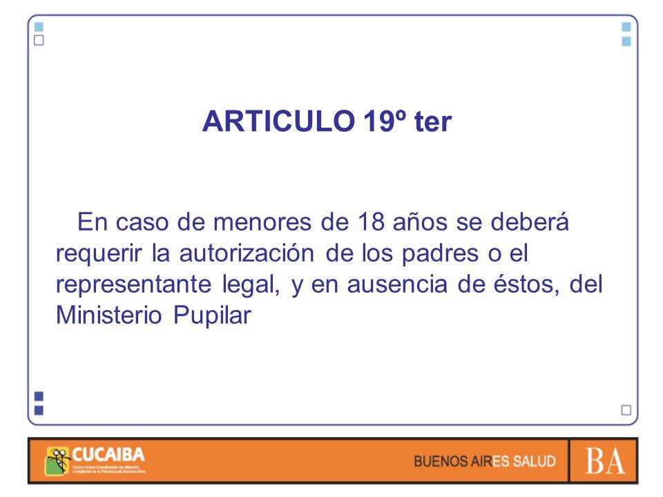 ARTICULO 19º ter