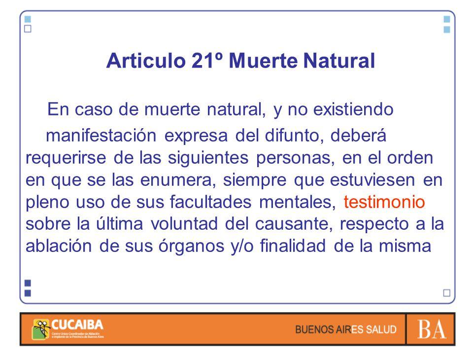 Articulo 21º Muerte Natural