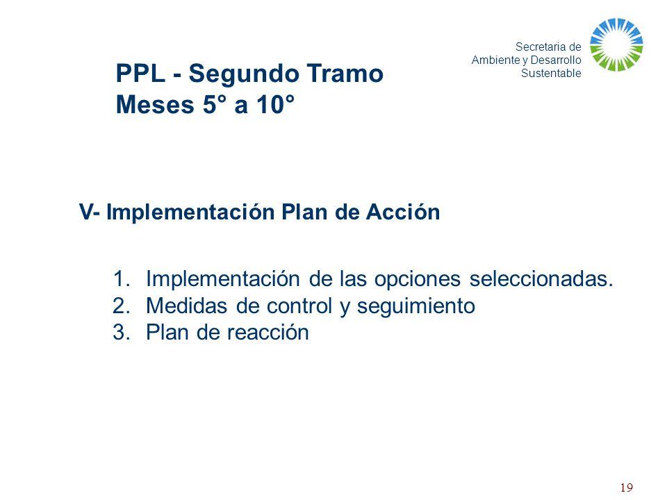 PPL - Segundo Tramo Meses 5° a 10° V- Implementación Plan de Acción