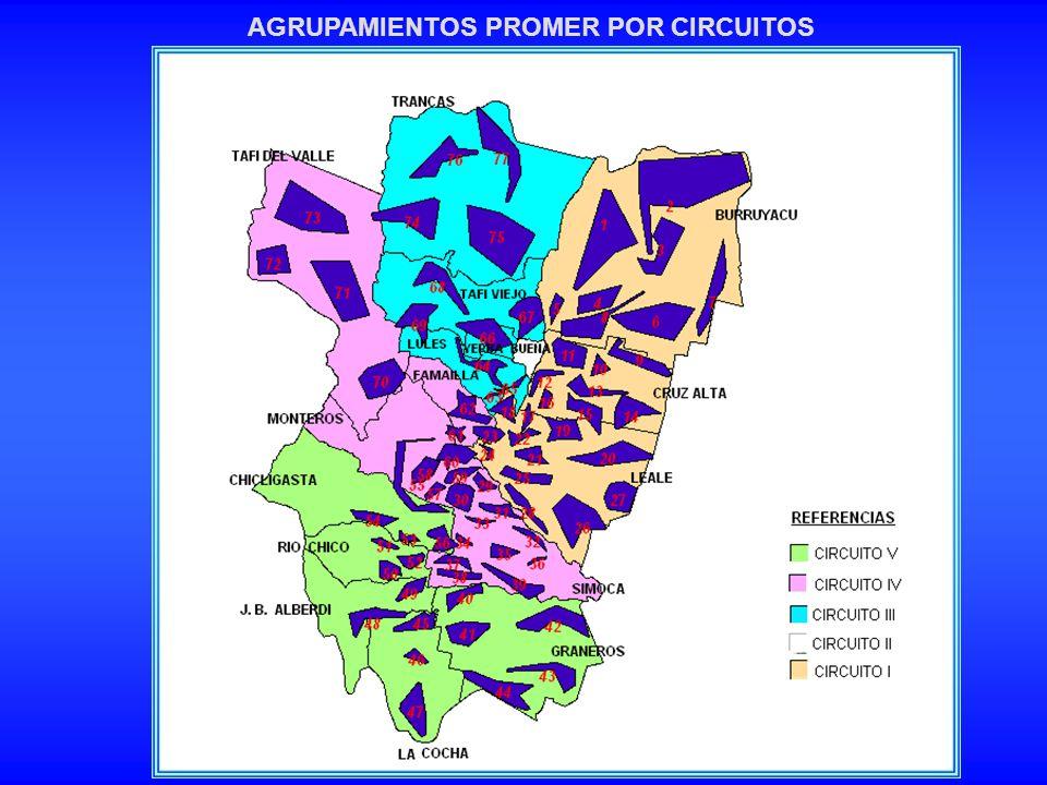 AGRUPAMIENTOS PROMER POR CIRCUITOS