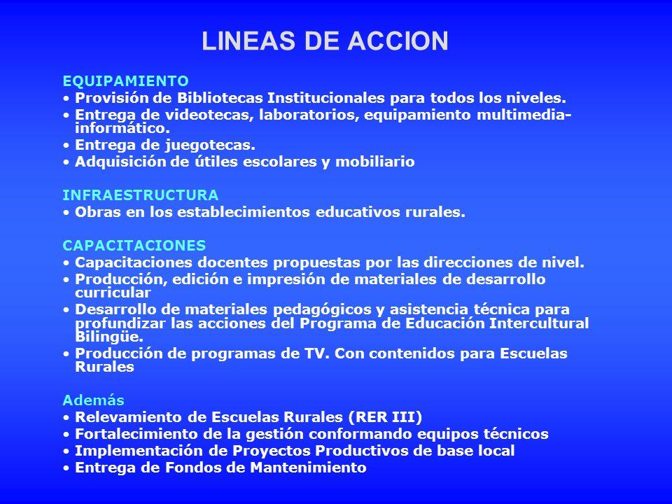 LINEAS DE ACCION EQUIPAMIENTO
